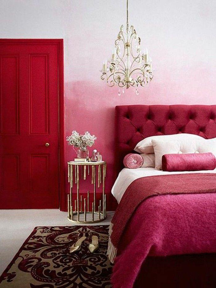Les 25 meilleures id es de la cat gorie t te de lit rose - Chambre couleur framboise ...