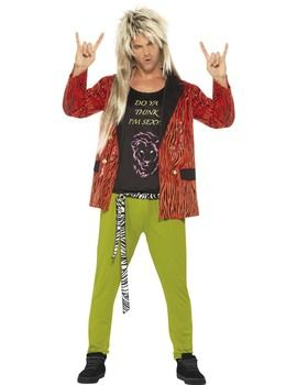 Fancy Dress - Adult 80's Rock Star Costume: Includes jacket, trousers and vest. #GolfShopping #GolfSupplies #Golfers