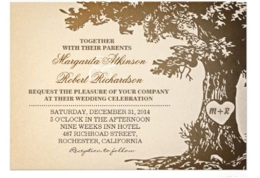 Vintage tree themed invite