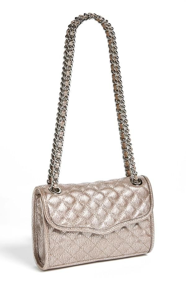 silver and metallic Rebecca Minkoff Bag