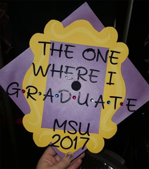 FRIENDS graduation cap idea - grad cap inspiration