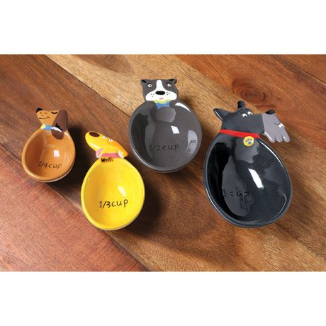 Ceramic Dog Measuring Cup Set Cute Lil Thing Pinterest