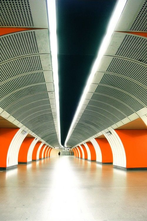 Vienna, Austria - Metro Station.
