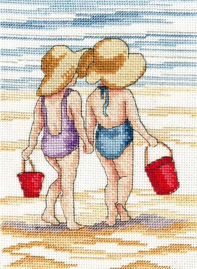 Red Buckets - All Our Yesterdays Cross Stitch Kit By Faye Whittaker