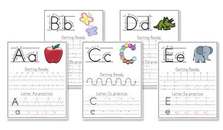 A-Z handwriting worksheets to help your preschooler learn and write the alphabet. Love the hand warm up exercise too.