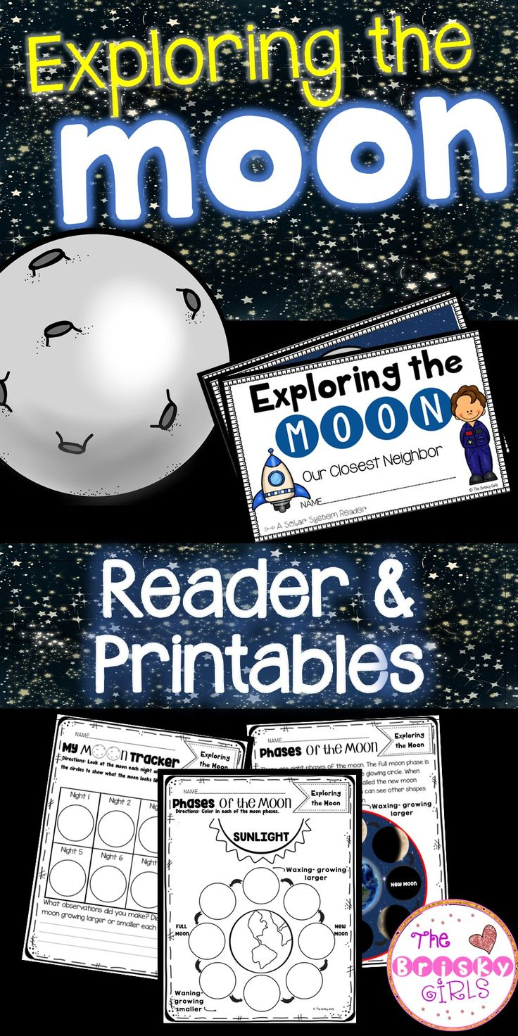 The Moon- Reader and Printables