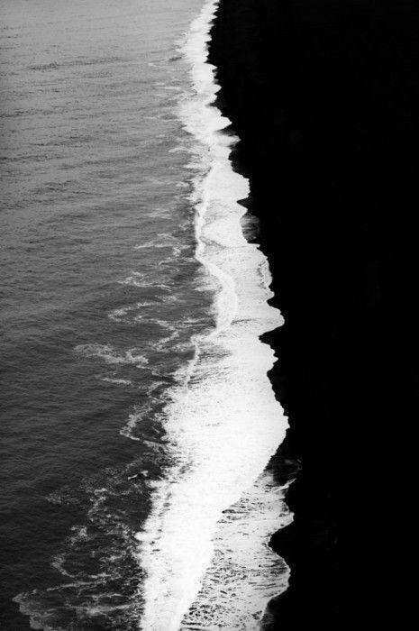 Black and white beach.