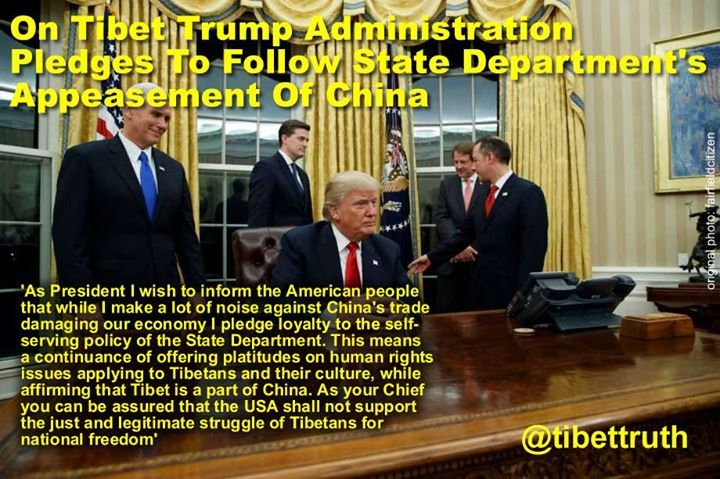 """@POTUS your praise of dictator #XiJinping as being """"highly respected"""" is a new depth in the appeasement engineered by @StateDept but hey it was all so predictable! #trueTibet"""