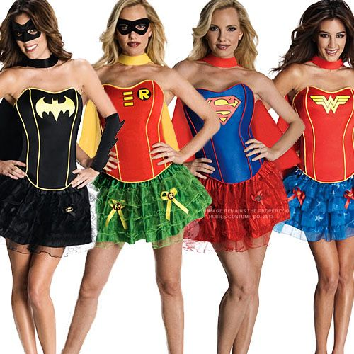 Sexy Superhero Tutu Fancy Dress Ladies Costume Womens Movie Cartoon Outfit 6-14