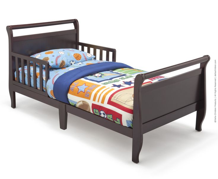 Toddler Bed Black Cherry Espresso And Blanket