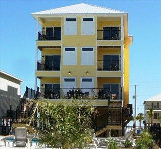Lemonade Stand Beach House On Gulf Ss Al 12 Br Sleeps 40