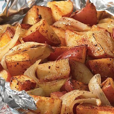 BBQ potatoes! Yum!