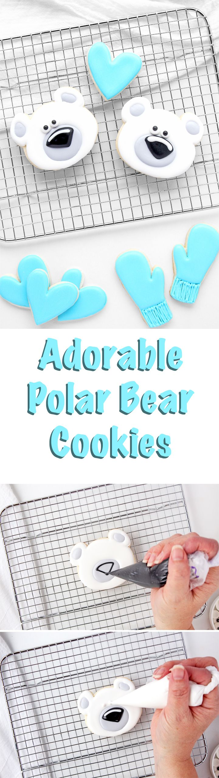 How to Make Adorable Polar Bear Cookies Decorated with Royal Icing   The Bearfoot Baker