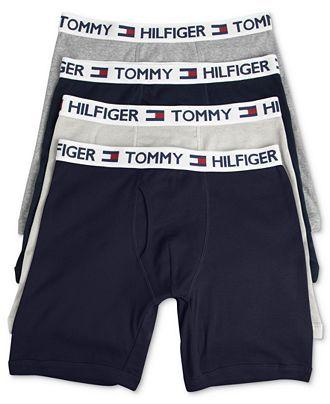 Tommy Hilfiger Men's Underwear, Cotton Boxer Brief 4-Pack - Underwear - Men - Macy's