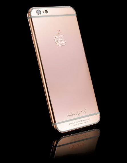 Real rose gold iphone 6S with VVS1 grade diamonds by Legend Helsinki