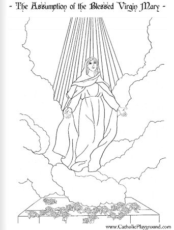 assumption of mary coloring pages - photo#3
