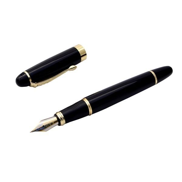 Jinhao X450 Fountain Pen Black Medium Nib Gold colour trim + Ink Converter + Customise with Optional Add ons! NEW