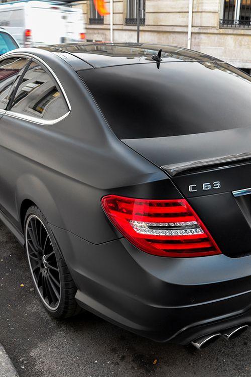 Mercedes Benz C63 in matte black