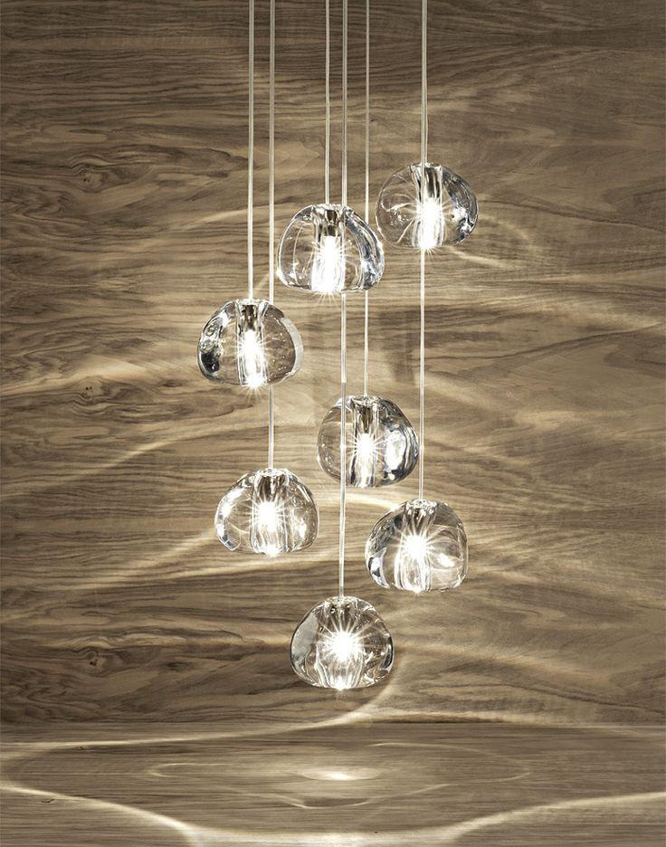 Mizu Suspension lamp, Contemporary Entry Lighting Design at Cassoni.com