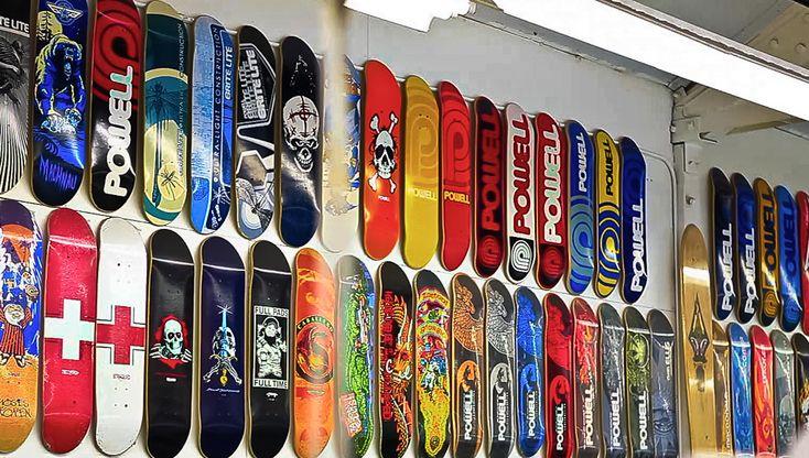 Skateboard Collection Skateboard Decks Hanging On The
