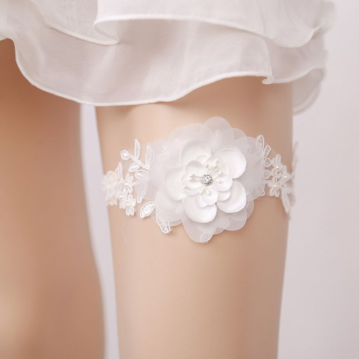 Cheap wedding leg garter, Buy Quality leg garter directly from China garters for brides Suppliers: New Women Wedding White Garter For Bride Hand Made Big Flower Wedding Leg Garter Belt For Ladies