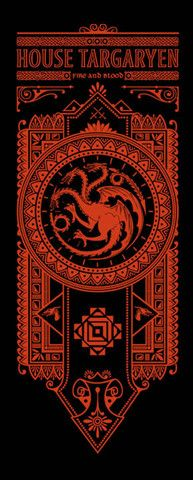 House Targaryen Banner by olipop | #got #agot #asoiaf #series #got #illustration #ilustração