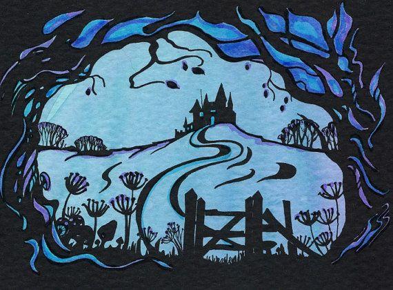 fantasy Art  Fairytale Castle Silhouette by FlorenceFantasyArt