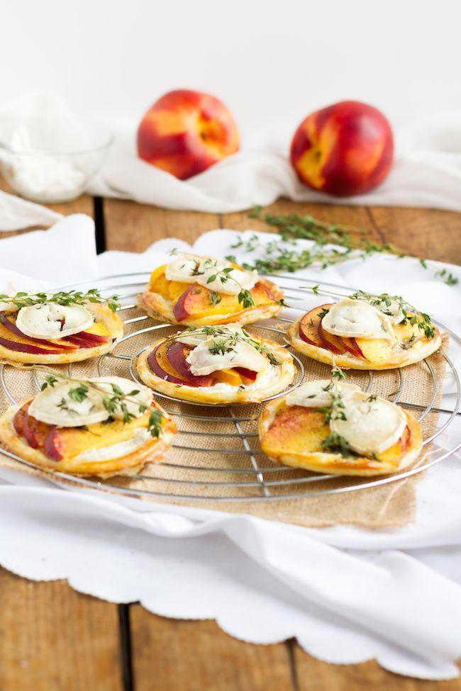 haseimglueck.de Rezept, Blätterteig Tartelettes mit Nektarine Ziegenkäse 1