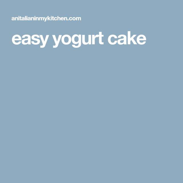 easy yogurt cake