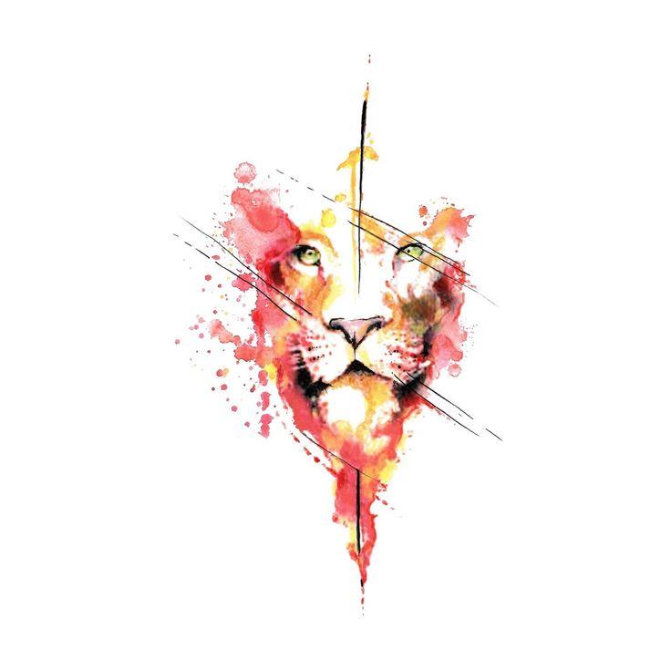 Firey Lion   – moms tattoo