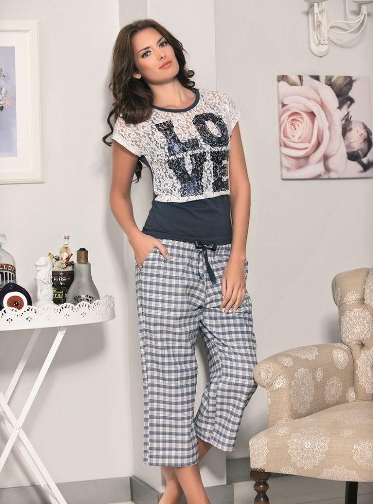 Maranda, #Love Bayan Kapri Takım 59.90 TL http://www.pijama.com.tr/kapri