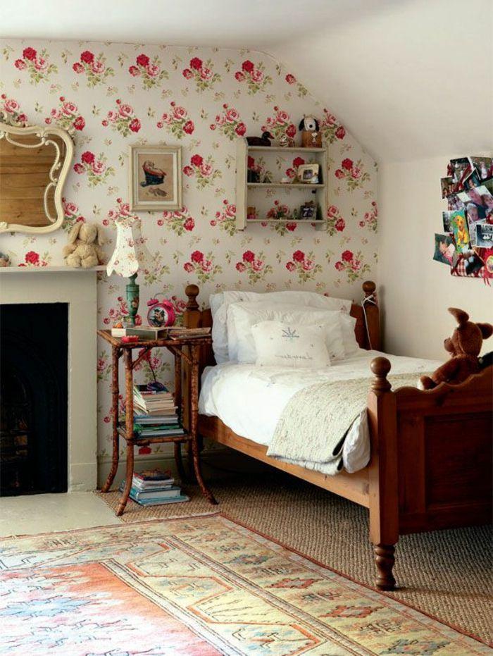 Beautiful idees papier peint pour chambre a coucher - Modele de papier peint pour chambre a coucher ...