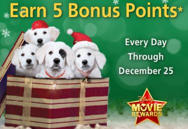 DISNEY MOVIE REWARDS $$ FREE Points Daily Until 12/25: Earn 5 Points Today (12/5