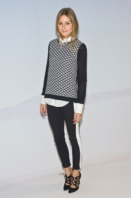 Olivia Palermo. Black and white.