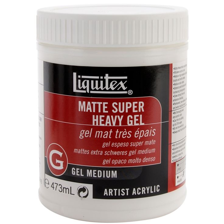 Reeves Liquitex Super Heavy Matte Acrylic Gel Medium-16oz - 16oz