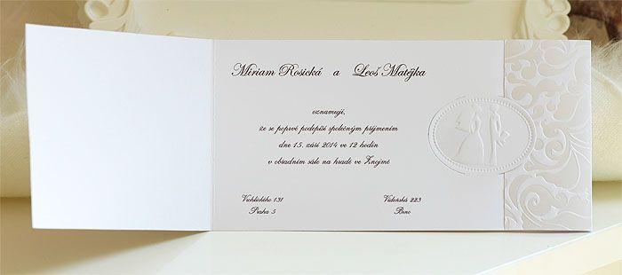 Svatební oznámení s nevěstou a ženichem SK311