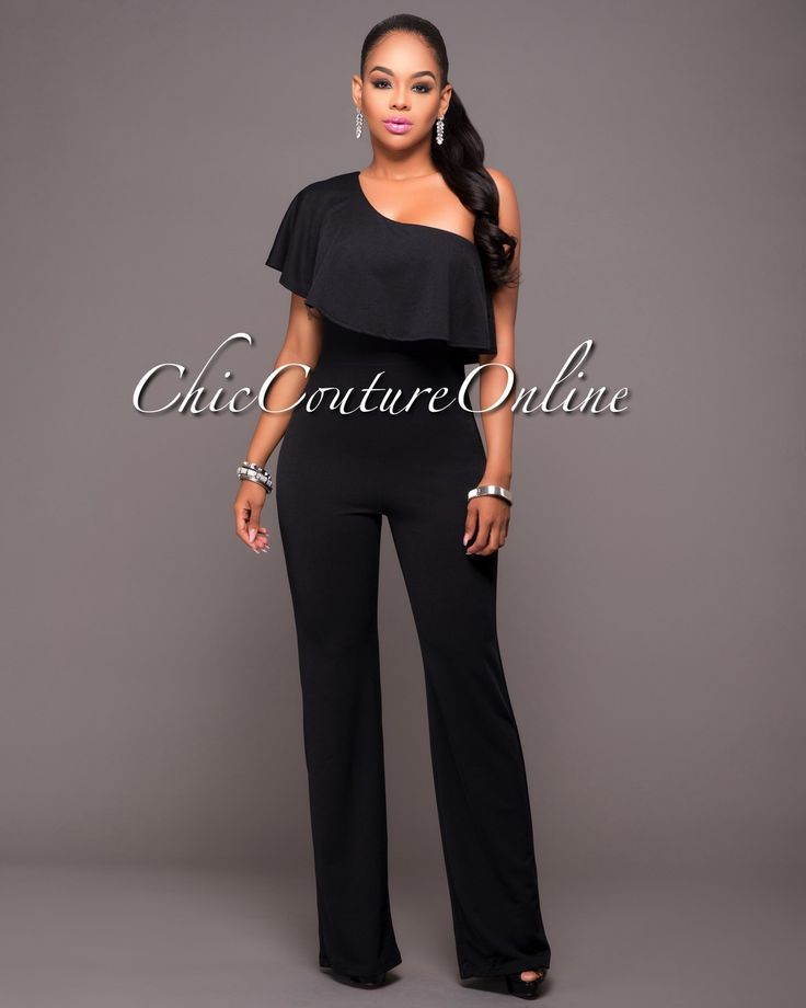 Chic Couture Online - Adriel Black One Shoulder Jumpsuit.(http://www.chiccoutureonline.com/adriel-black-one-shoulder-jumpsuit/)