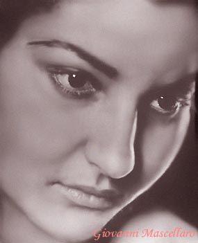 Young Maria Callas (Photo edited by Giovanni Mascellaro)