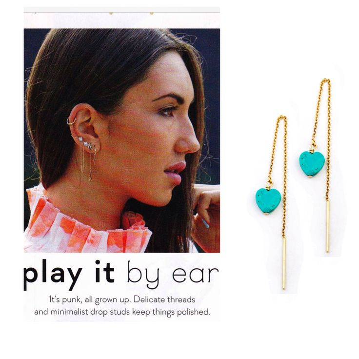 Kerry Rocks Turquoise heart threads 14kt gold fill featured in Shop till you drop