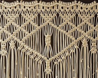 Macrame Wall Hanging Large Bohemian Window by MonroeArtist on Etsy