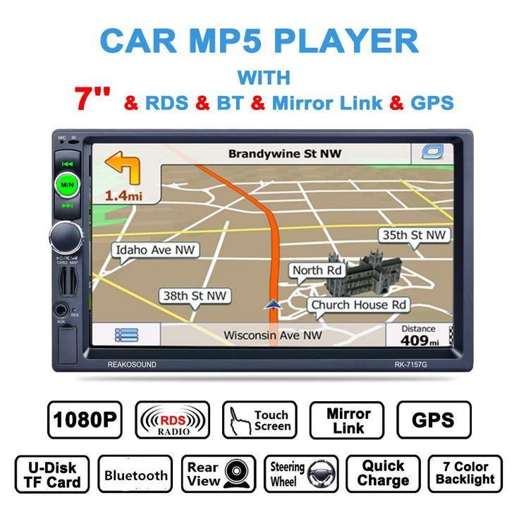 Precios al por mayor €80.89 2Din 7 inch Bluetooth Auto Multimedia Coches Reproductor MP5 de Navegación GPS Estéreo RDS Radio Apoyo Enlace Espejo/Aux En/Cámara de Visión trasera  #inch #Bluetooth #Auto #Multimedia #Coches #Reproductor #Navegación #Estéreo #Radio #Apoyo #Enlace #Espejo #Cámara #Visión #trasera  #cybermonday