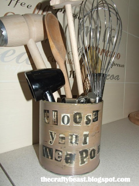 DIY box for kitchen utensils