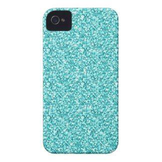 Girly, Fun Aqua Blue Glitter Printed iPhone 4 Case-Mate Case