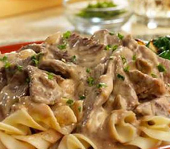 Beef Stroganoff- Not a big fan myself but the hubster LOVES it (happy spouse happy life). This recipe is a keeper!