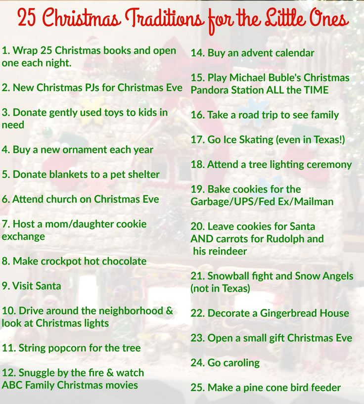 Christmas traditions for your family. Great holiday fun for the kids.