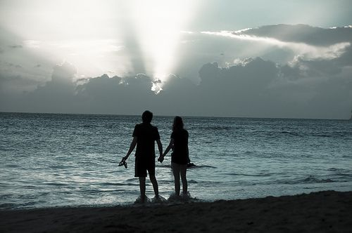 Martinique / South - Lovers on the beach by Manu Foissotte