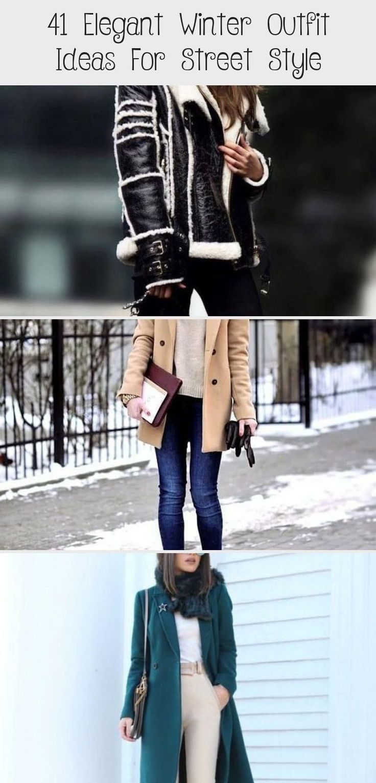 41 Elegant Winter Outfit Ideas For Street Style