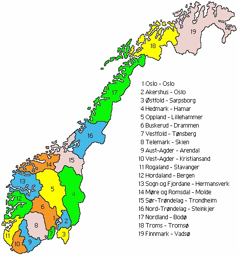 #5 Oppland & #14 More og Romsdal places where all my ancestors originated ( AND my mama)