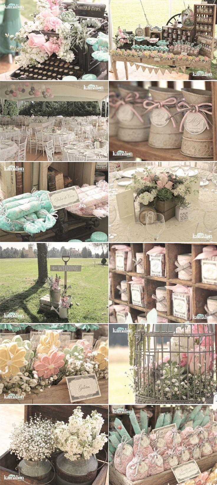 www.kamalion.com.mx - Boda / Wedding / Mint & Pink / Menta & Rosa / Candy Bar / Decoración / Decor / Vintage / Rustic.: