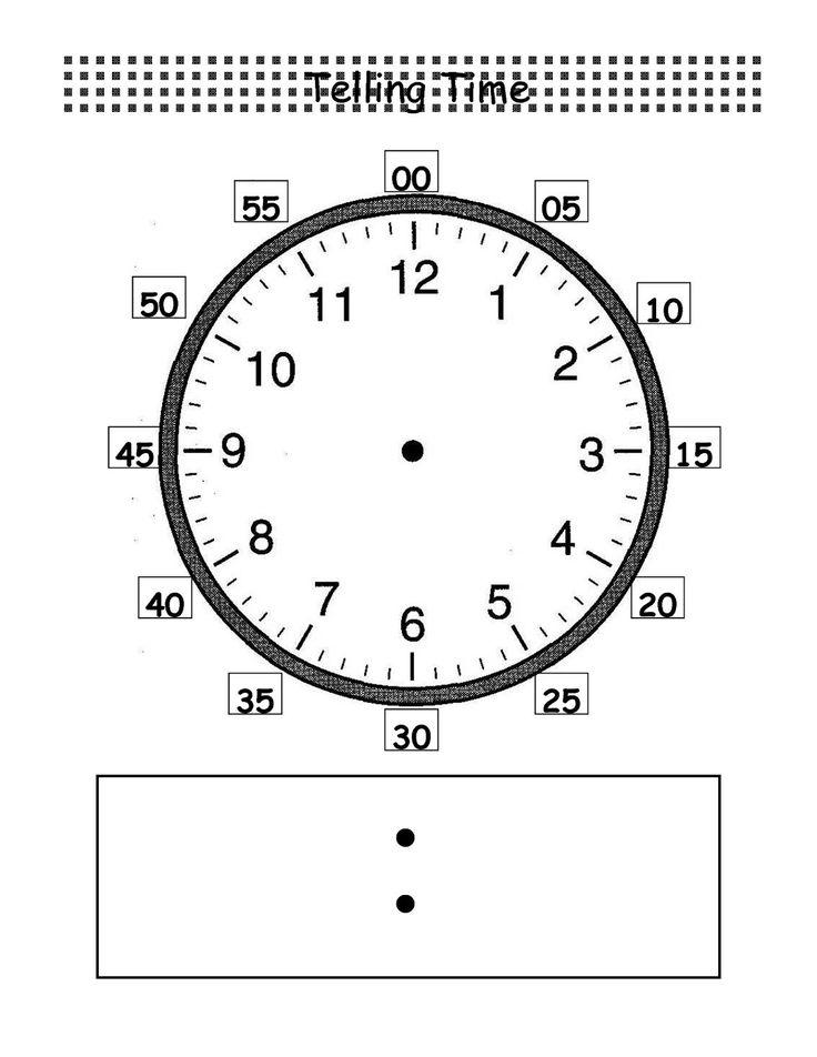 Blank Clock Worksheet to Print | Activity Shelter